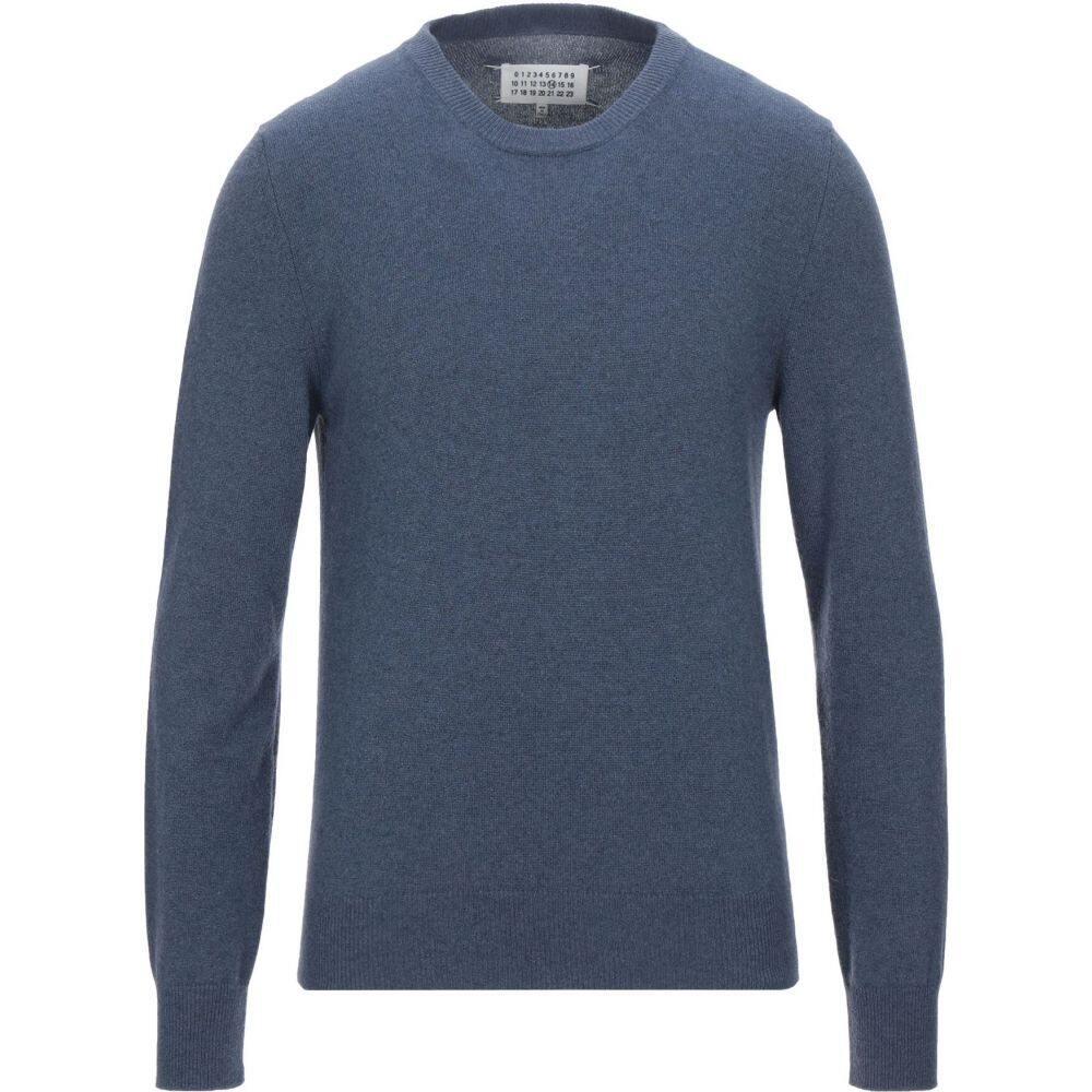 メゾン マルジェラ メンズ トップス ニット 毎週更新 贈与 セーター Slate サイズ交換無料 blue MARGIELA cashmere blend MAISON