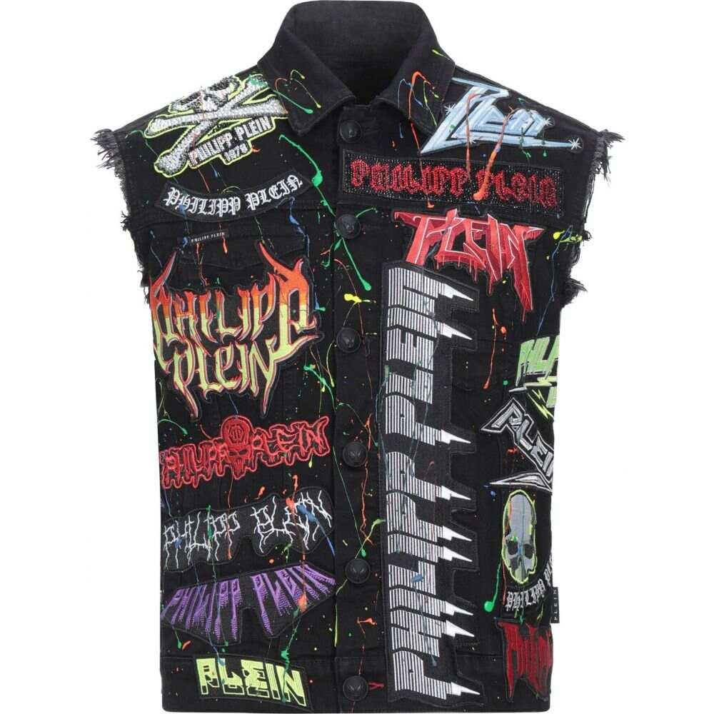 『5年保証』 フィリップ プレイン jacket】Black メンズ PHILIPP PLEIN メンズ ジャケット デニムジャケット アウター PLEIN【denim jacket】Black, Fel i c e  f i o r i M:c2e1040f --- online-cv.site