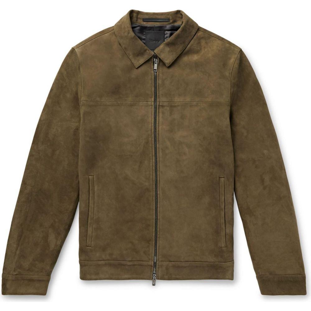 セオリー メンズ 激安卸販売新品 アウター レザージャケット 2020A/W新作送料無料 Khaki THEORY leather jacket サイズ交換無料