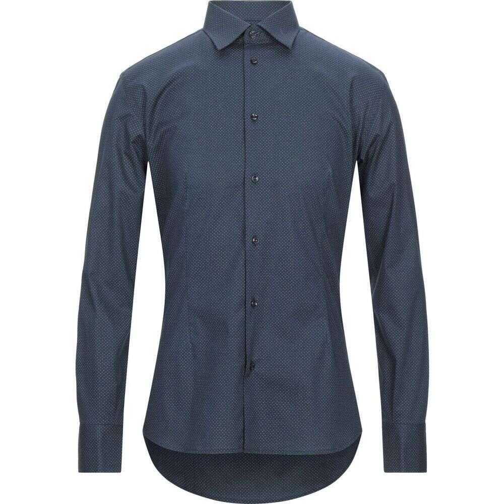 blue shirt】Dark DEL デル シャツ トップス【patterned EREDI メンズ DUCA エレディ ドゥーカ