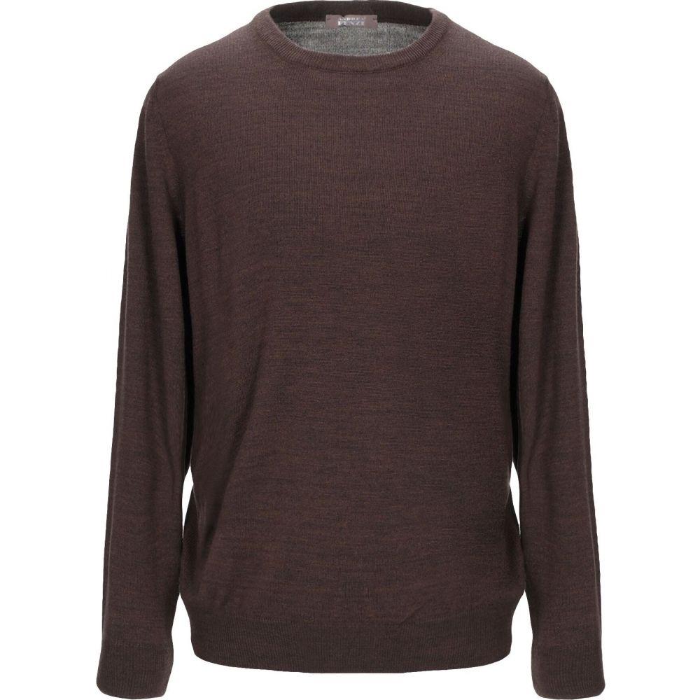 アンドレア フェンツィ ANDREA FENZI メンズ ニット・セーター トップス【sweater】Dark brown