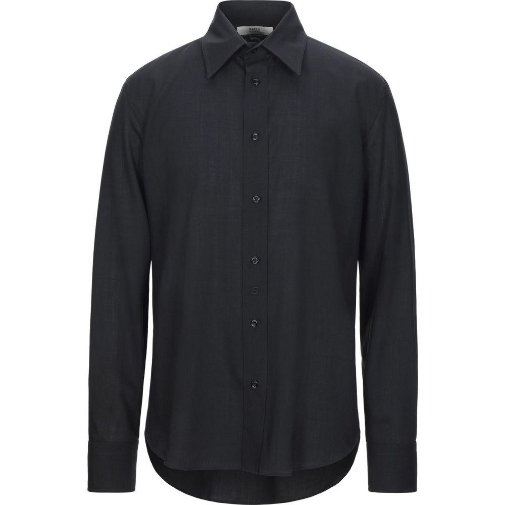 バリー トップス【Solid Color シャツ Shirt】Black BALLY メンズ