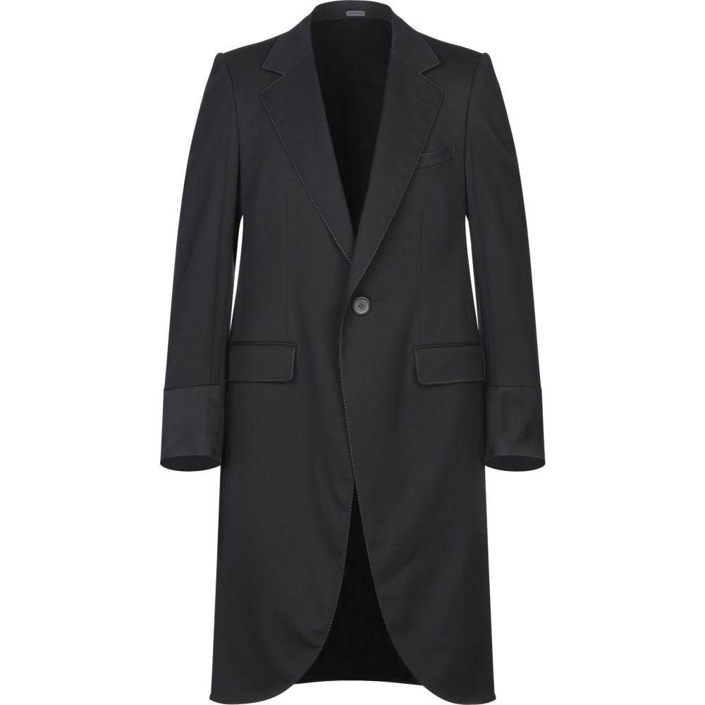 メンズ LANVIN アウター【Full-Length ランバン Jacket】Black ジャケット