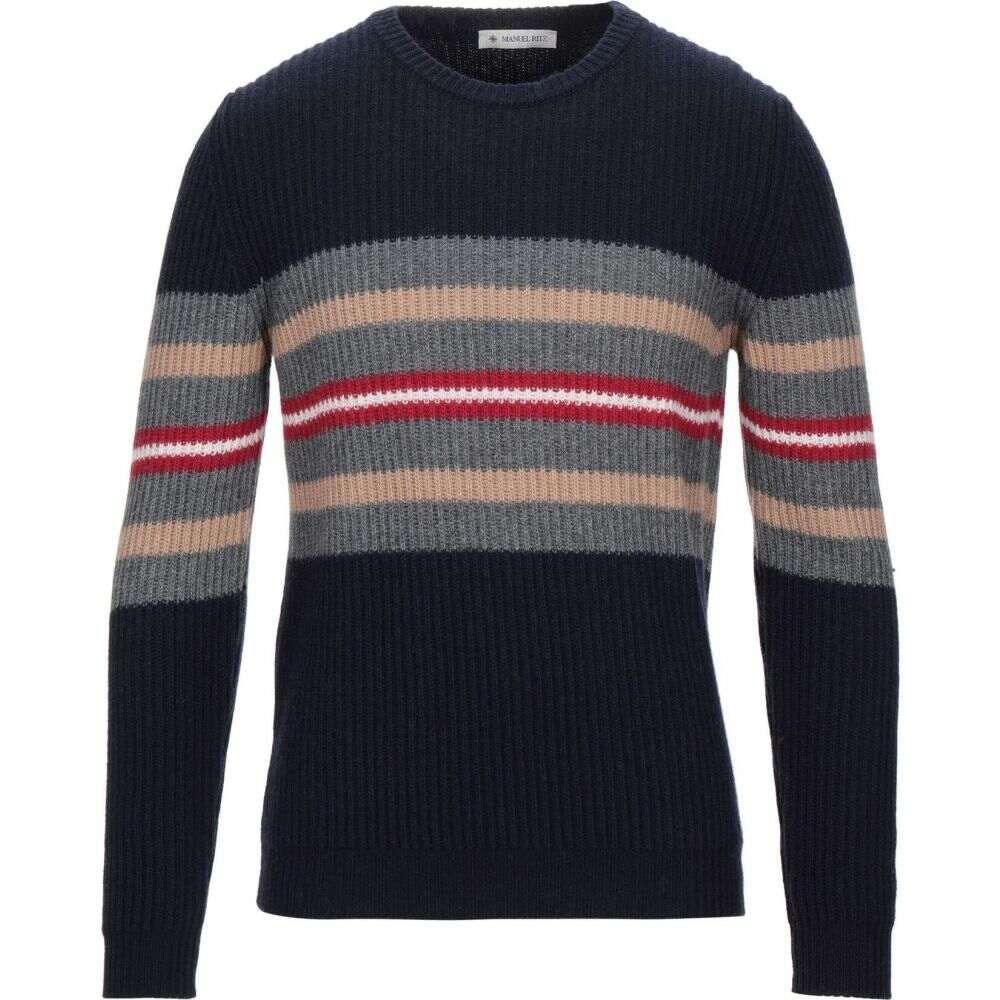 マニュエル リッツ MANUEL RITZ メンズ ニット・セーター トップス【Sweater】Dark blue
