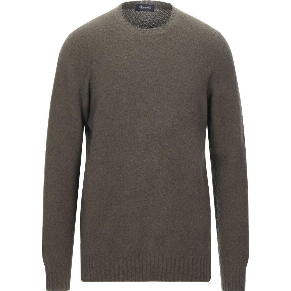 ドルモア DRUMOHR メンズ ニット セーター トップス sweater Military green 一番売れた*** 通学 お買い得 七夕祭り 卒業祝 年末バーゲン 粗品 内祝 特価