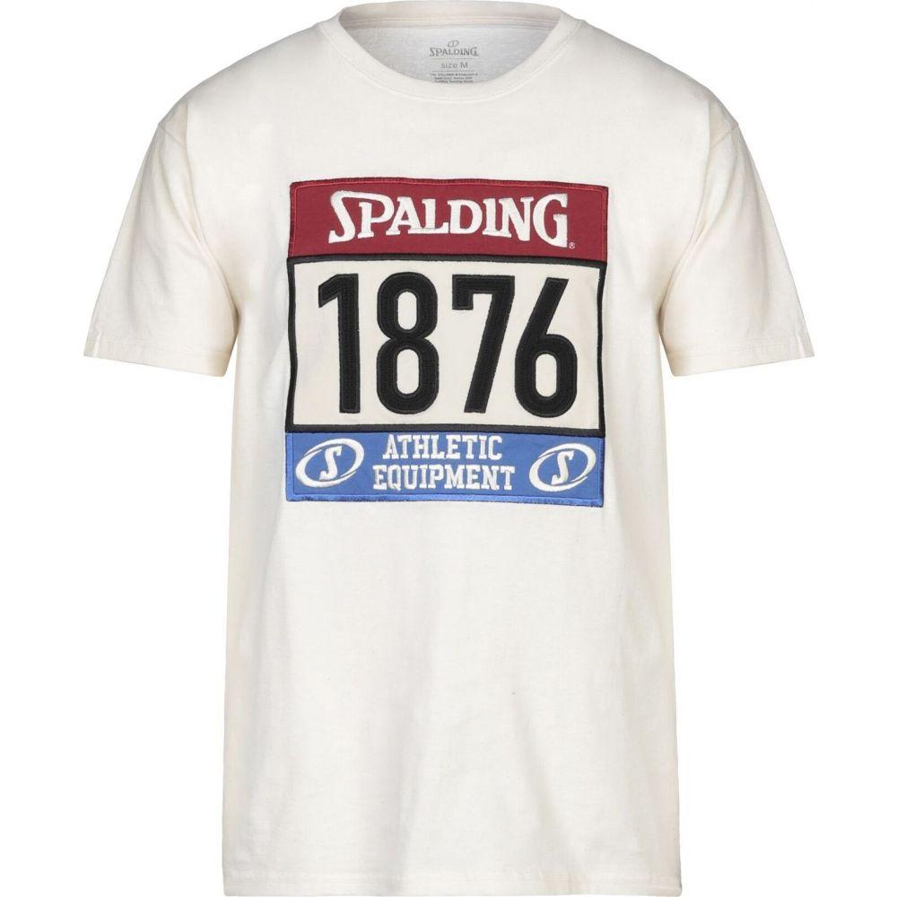 スポルディング SPALDING メンズ Tシャツ トップス【t-shirt】Ivory