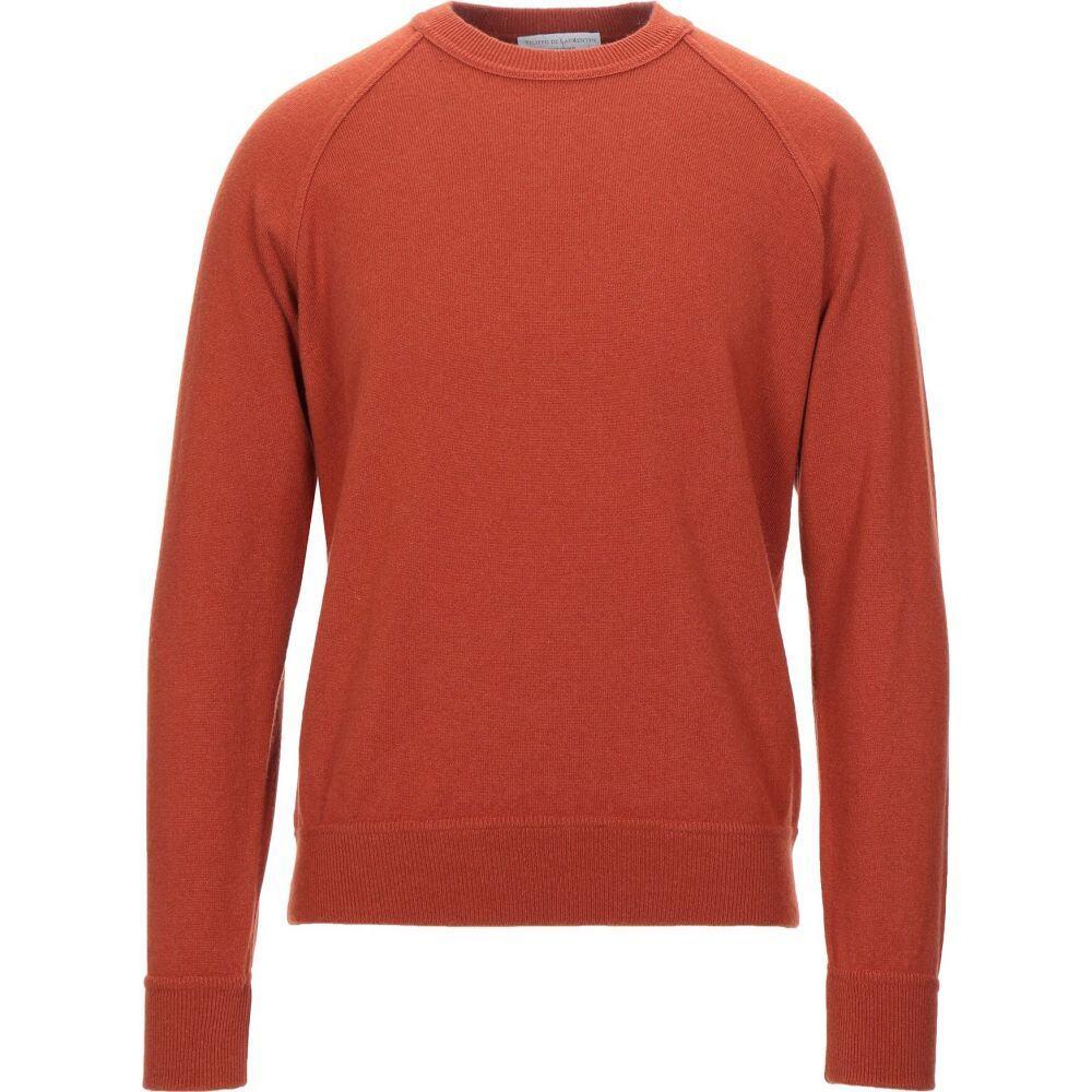 フィリッポ デ ローレンティス FILIPPO DE LAURENTIIS メンズ ニット セーター トップス cashmere blend Rust 新築祝 銀婚式 出産祝