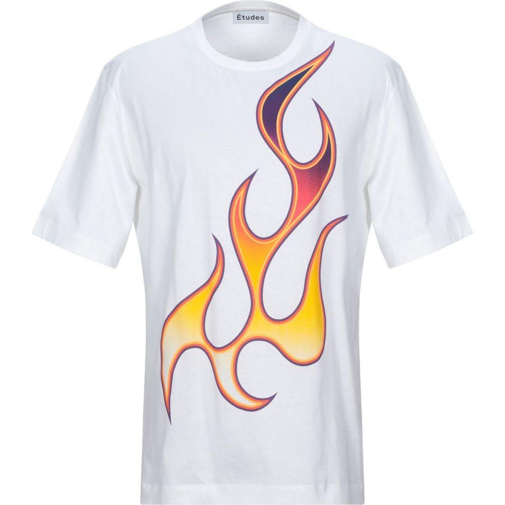 エチュード ETUDES STUDIO メンズ Tシャツ トップス【t-shirt】White