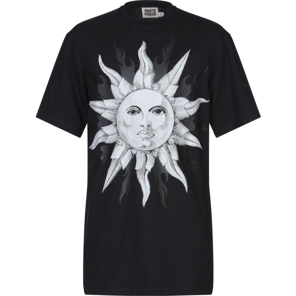 ファウスト パグリッシ FAUSTO PUGLISI メンズ Tシャツ トップス【t-shirt】Black