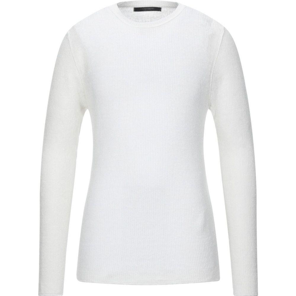 メッサジェリエ MESSAGERIE メンズ ニット・セーター トップス【sweater】White