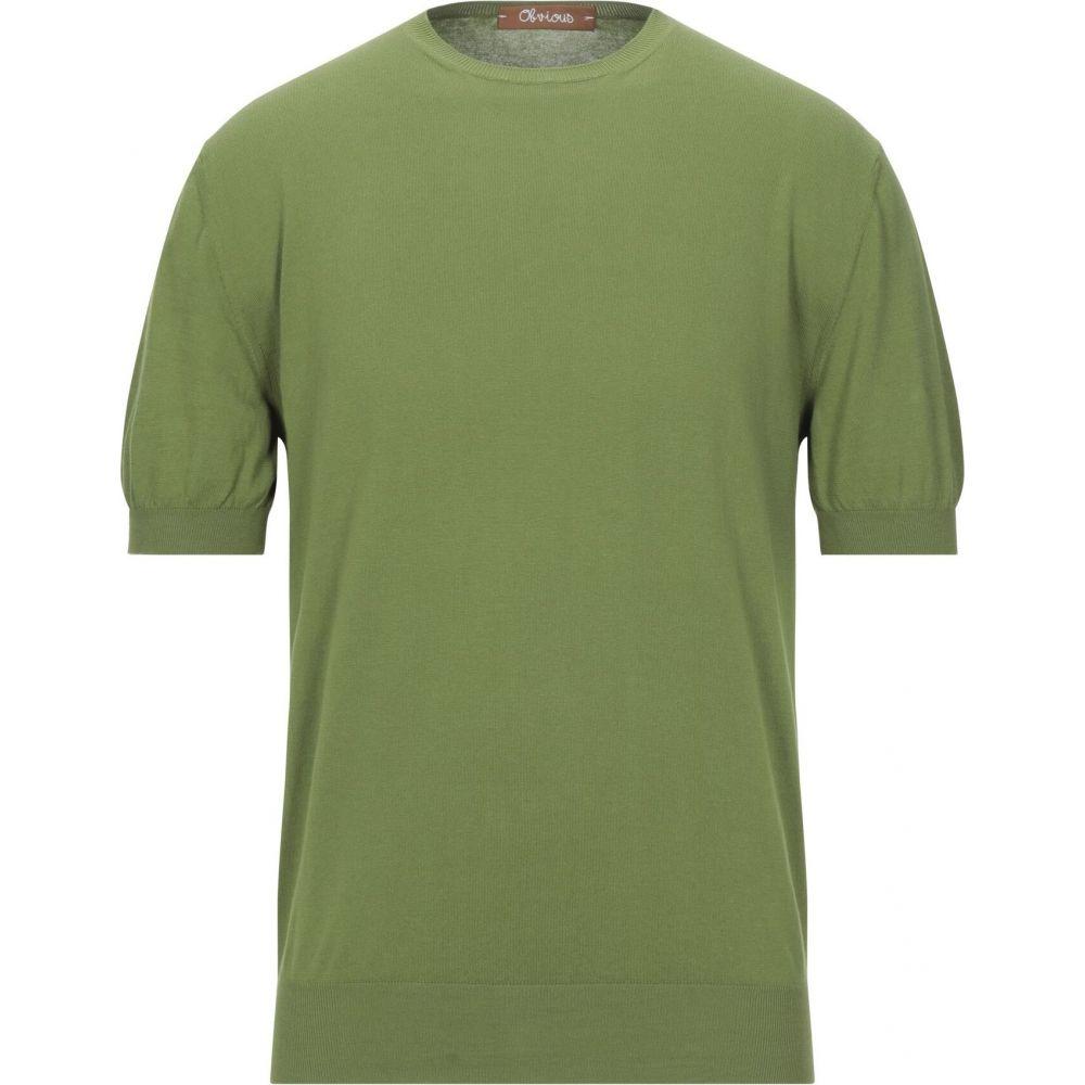 オビオスベーシック OBVIOUS BASIC メンズ ニット・セーター トップス【sweater】Green