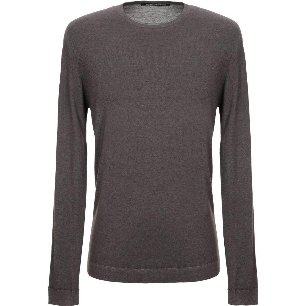 オリジナル ヴィンテージ スタイル ORIGINAL VINTAGE STYLE メンズ ニット・セーター トップス【cashmere blend】Grey