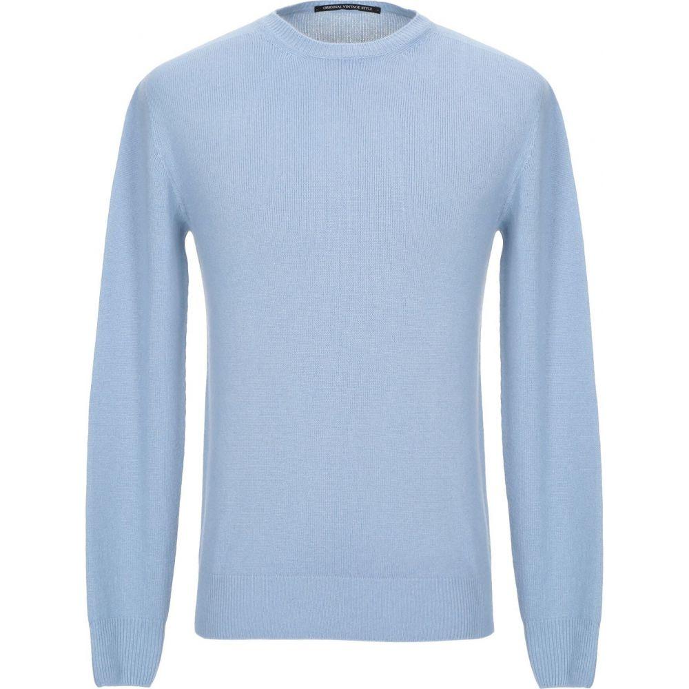 オリジナル ヴィンテージ スタイル ORIGINAL VINTAGE STYLE メンズ ニット・セーター トップス【cashmere blend】Sky blue