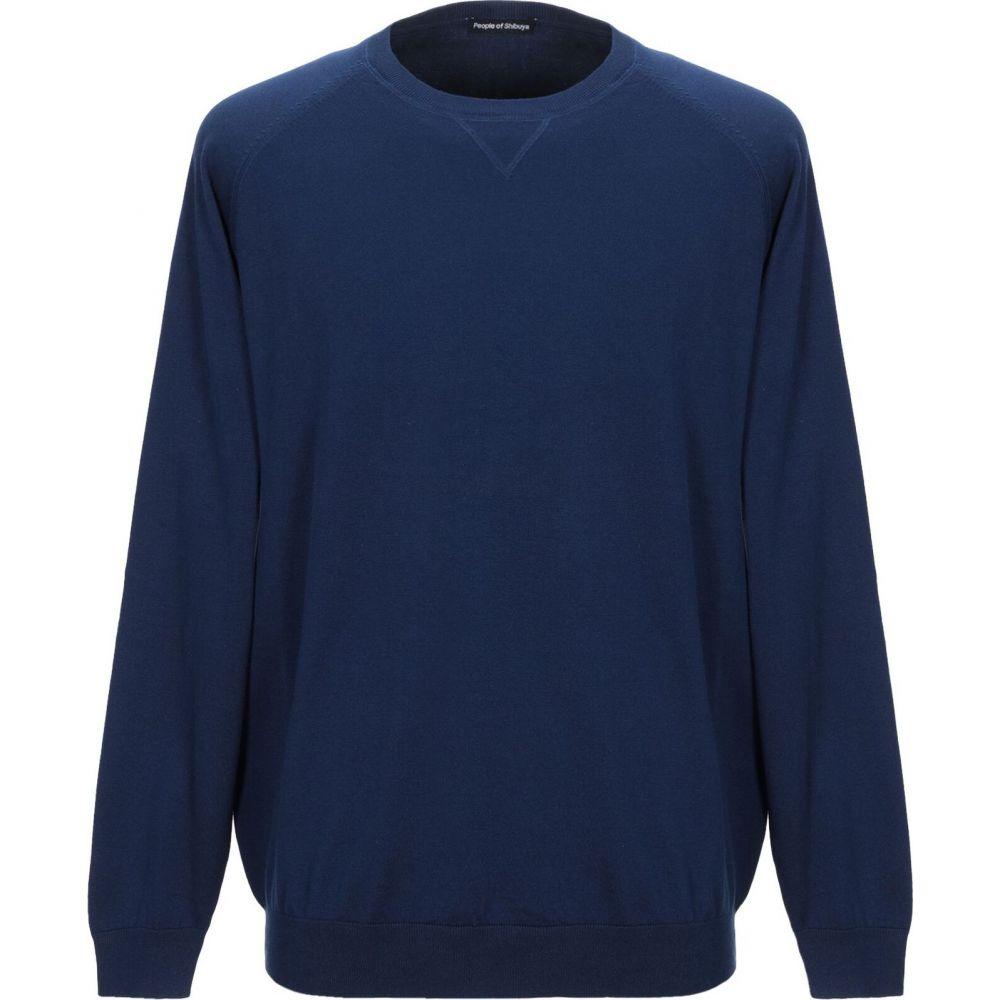 ピープルオブシブヤ PEOPLE OF SHIBUYA メンズ ニット・セーター トップス【sweater】Blue