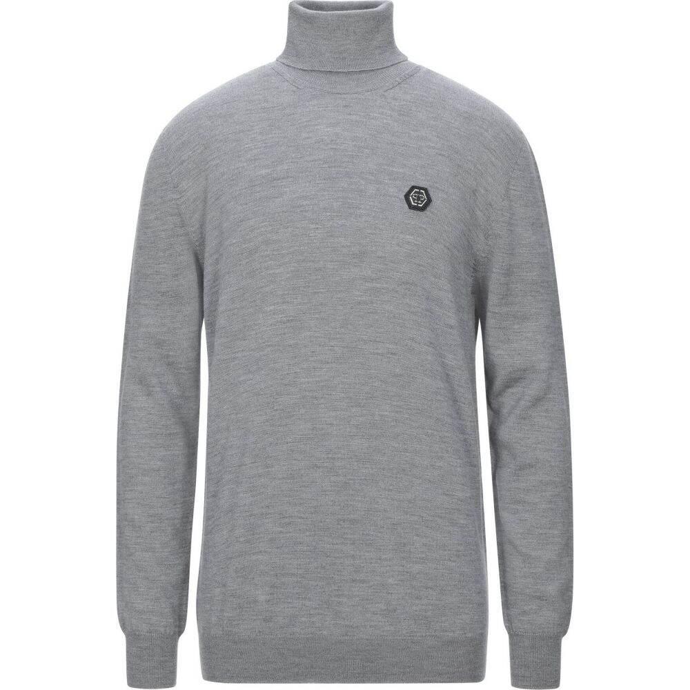 フィリップ プレイン PHILIPP PLEIN メンズ ニット・セーター トップス【turtleneck】Light grey