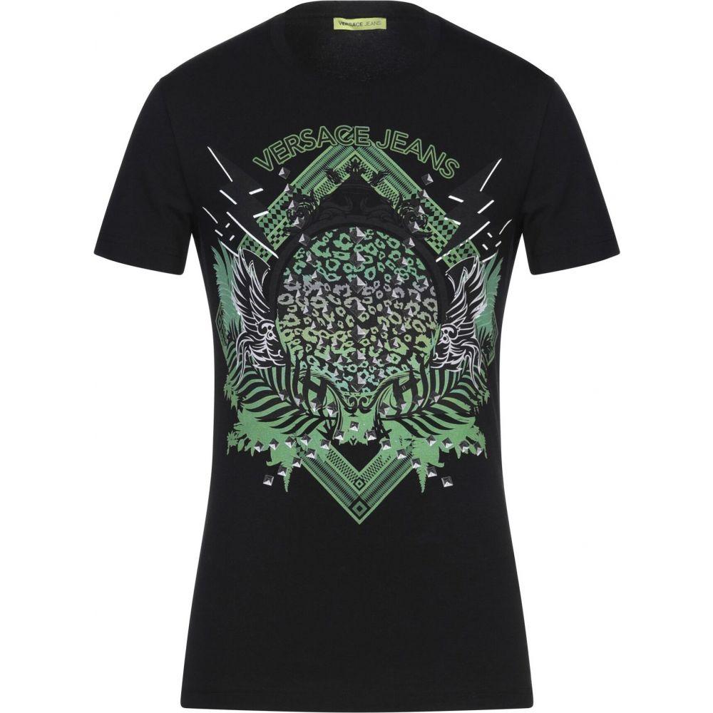 ヴェルサーチ VERSACE JEANS メンズ Tシャツ トップス【t-shirt】Black