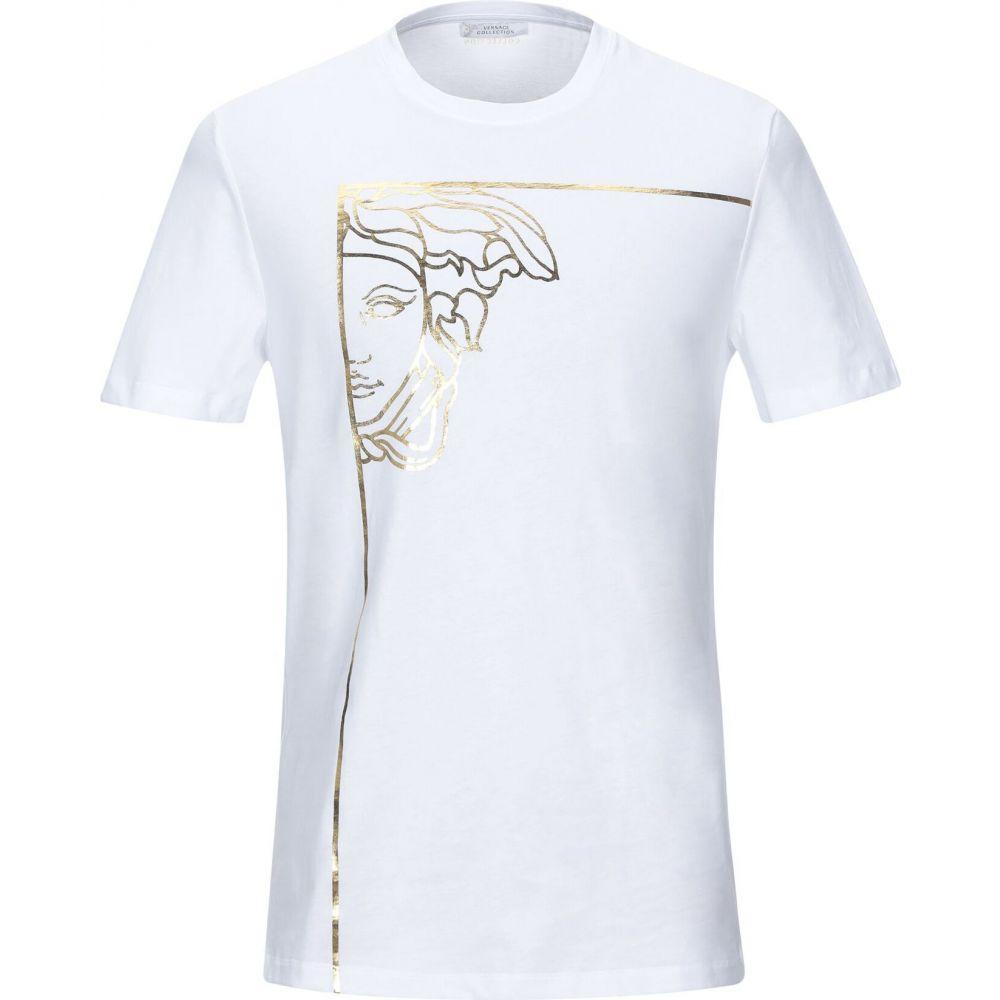 ヴェルサーチ VERSACE COLLECTION メンズ Tシャツ トップス【t-shirt】White