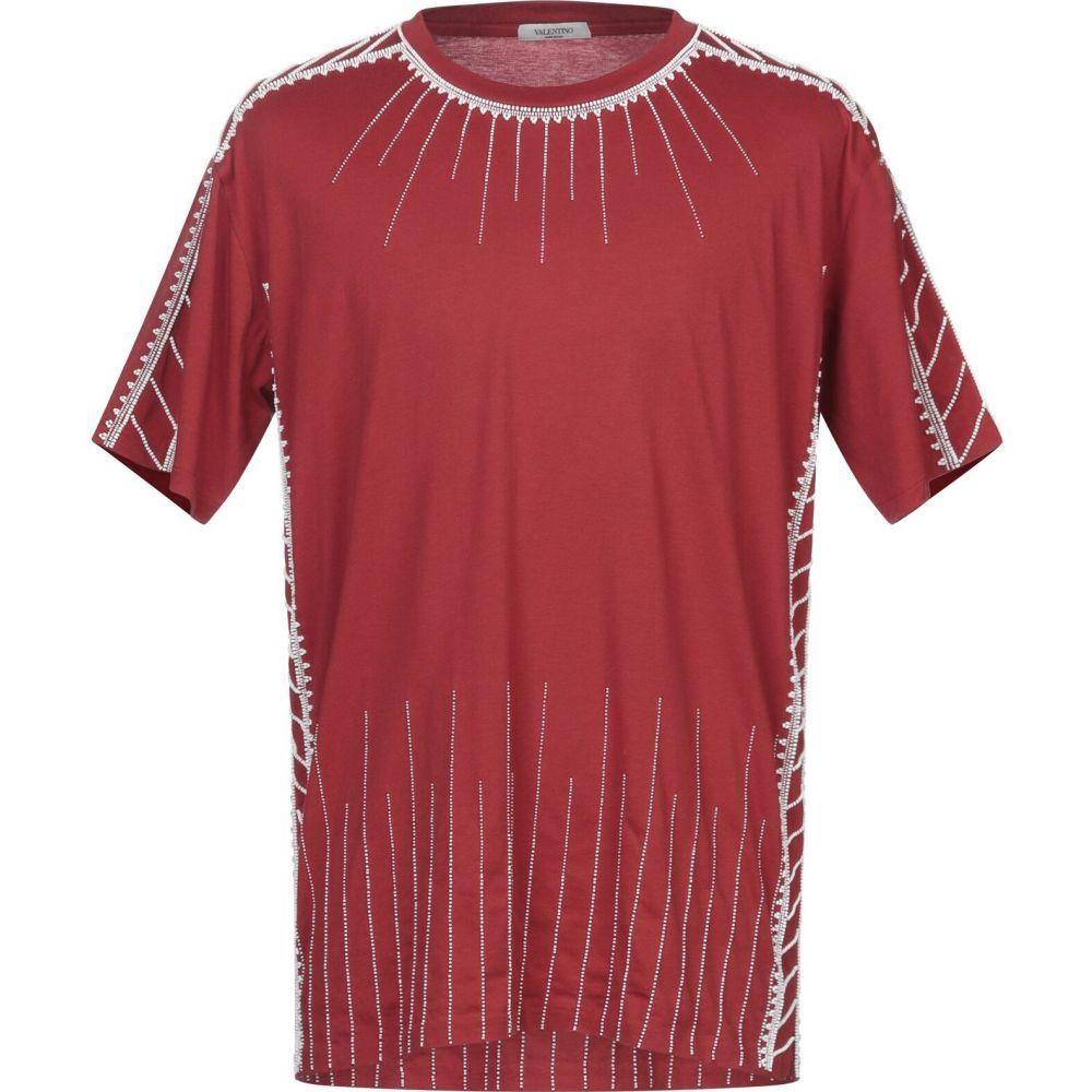 ヴァレンティノ VALENTINO メンズ Tシャツ トップス【t-shirt】Maroon