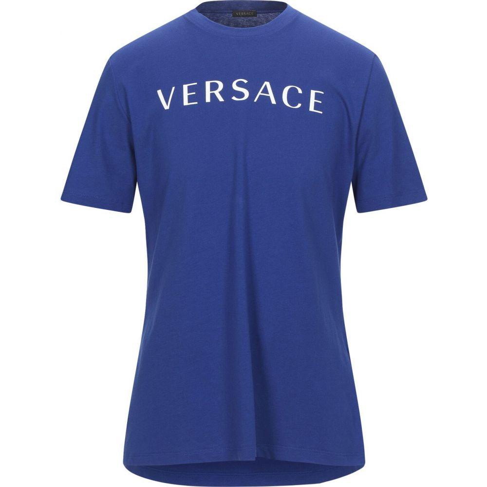 ヴェルサーチ VERSACE メンズ Tシャツ トップス【t-shirt】Bright blue