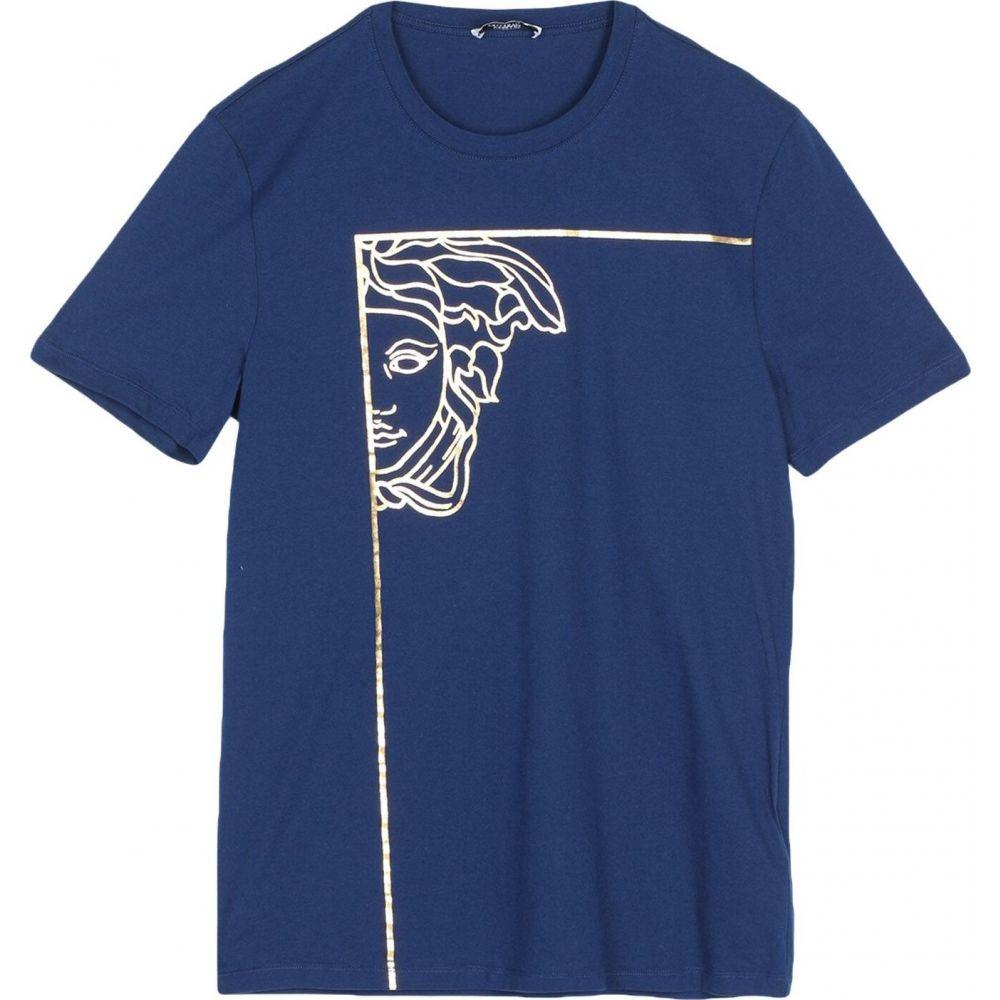 ヴェルサーチ VERSACE COLLECTION メンズ Tシャツ トップス【t-shirt】Dark blue