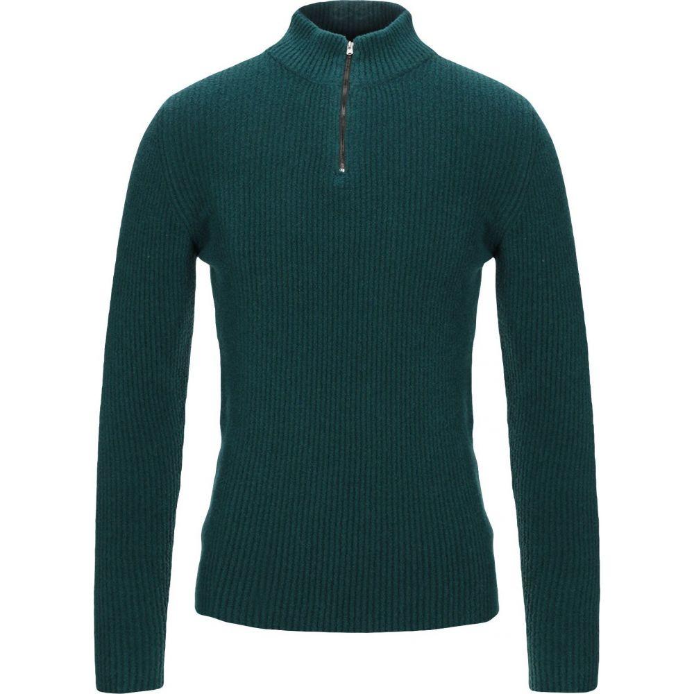 ロベルトコリーナ ROBERTO COLLINA メンズ ニット・セーター トップス【sweater with zip】Emerald green