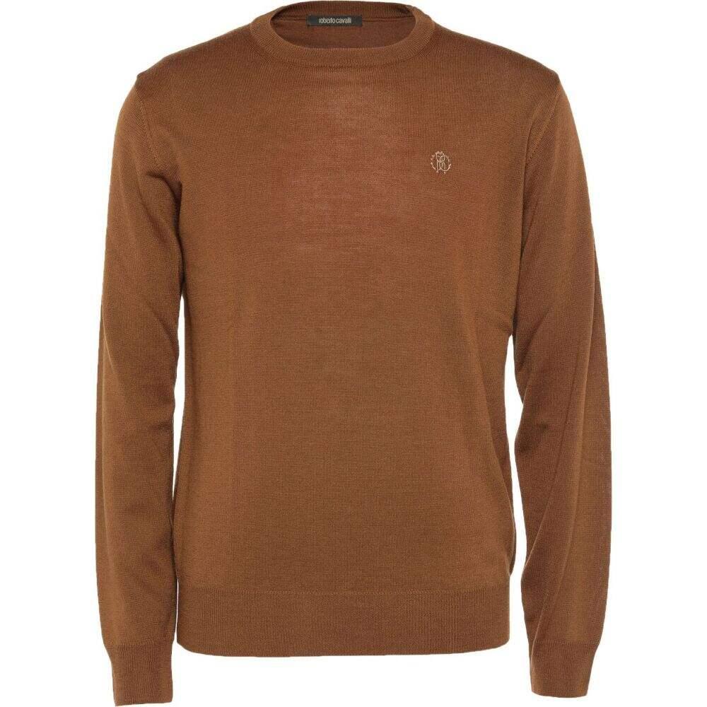 ロベルト カヴァリ ROBERTO CAVALLI メンズ ニット・セーター トップス【sweater】Brown