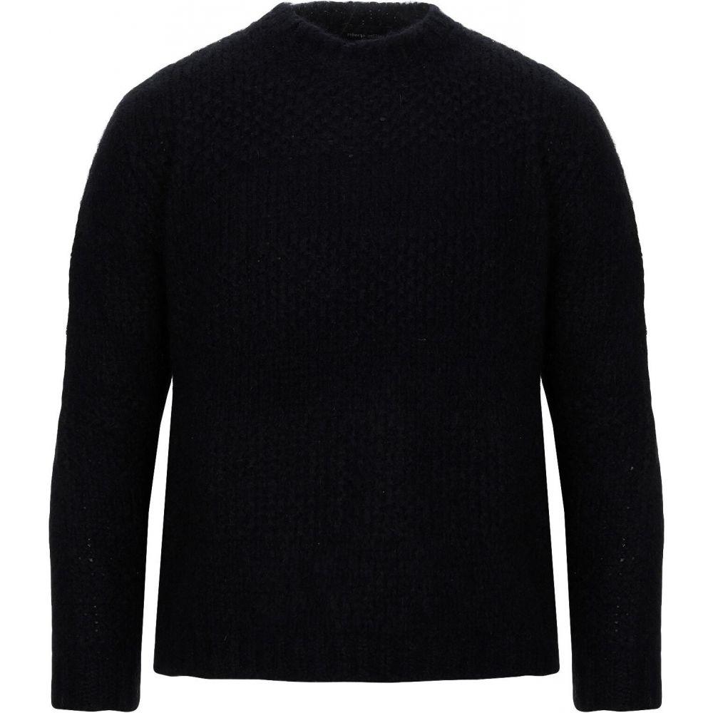 ロベルトコリーナ ROBERTO COLLINA メンズ ニット・セーター トップス【sweater】Black