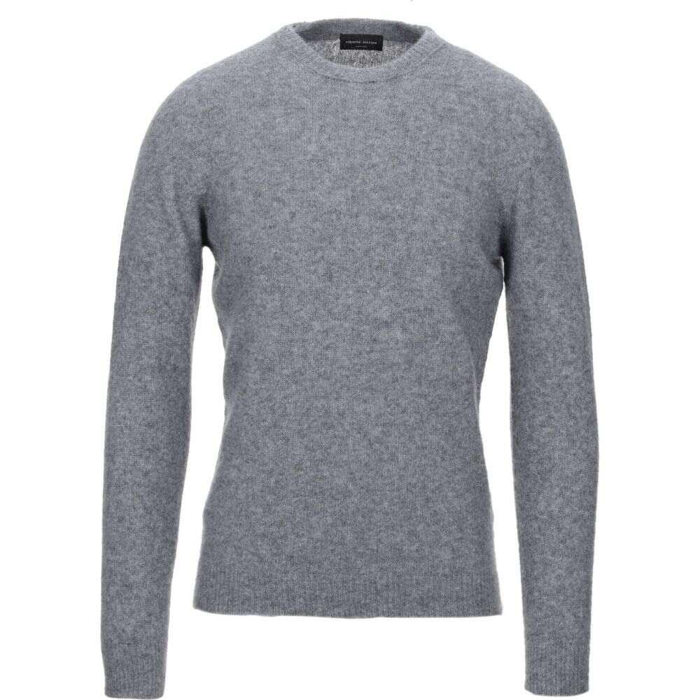 ロベルトコリーナ ROBERTO COLLINA メンズ ニット・セーター トップス【cashmere blend】Grey
