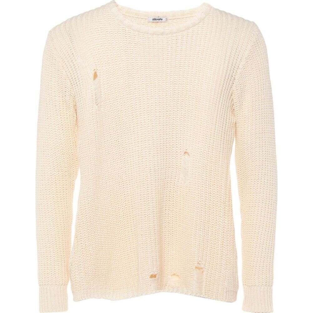 スティロソフィー インダストリー STILOSOPHY INDUSTRY メンズ ニット・セーター トップス【sweater】Ivory