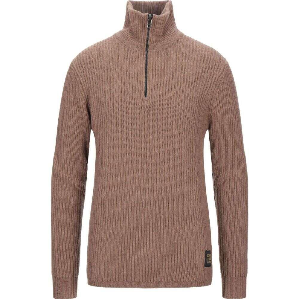 スコッチ&ソーダ SCOTCH & SODA メンズ ニット・セーター トップス【sweater with zip】Camel