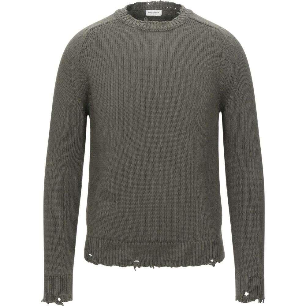 イヴ サンローラン SAINT LAURENT メンズ ニット・セーター トップス【sweater】Military green