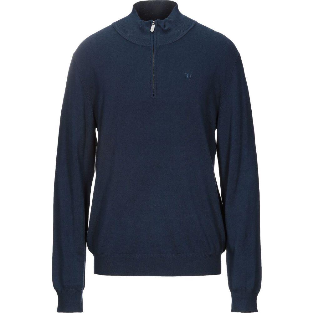 トラサルディ TRUSSARDI JEANS メンズ ニット・セーター トップス【sweater with zip】Dark blue