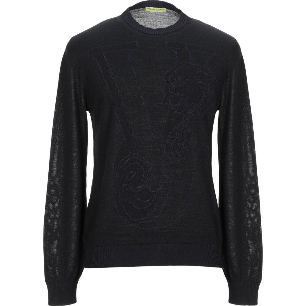ヴェルサーチ VERSACE JEANS メンズ ニット・セーター トップス【sweater】Black