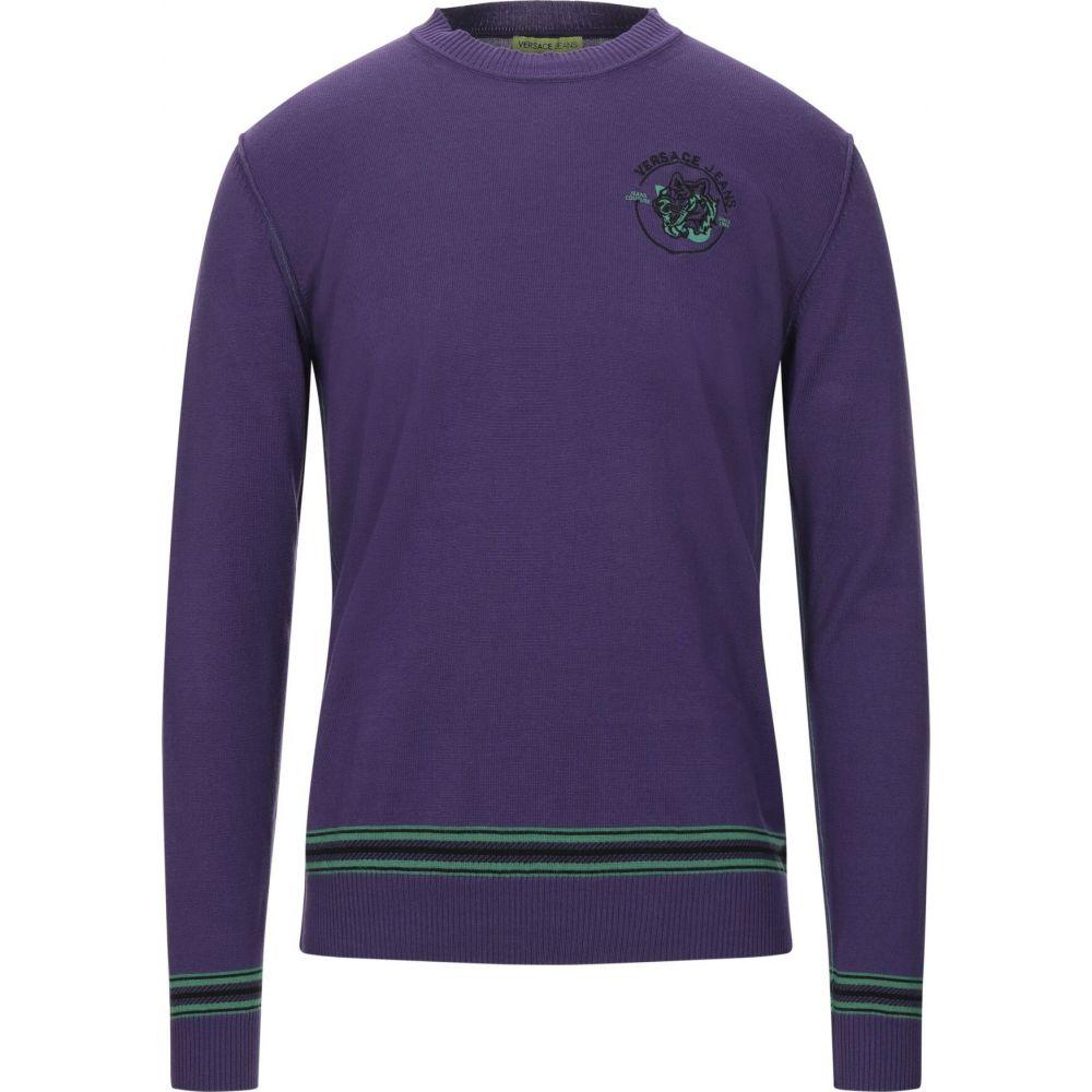 ヴェルサーチ VERSACE JEANS メンズ ニット・セーター トップス【sweater】Purple