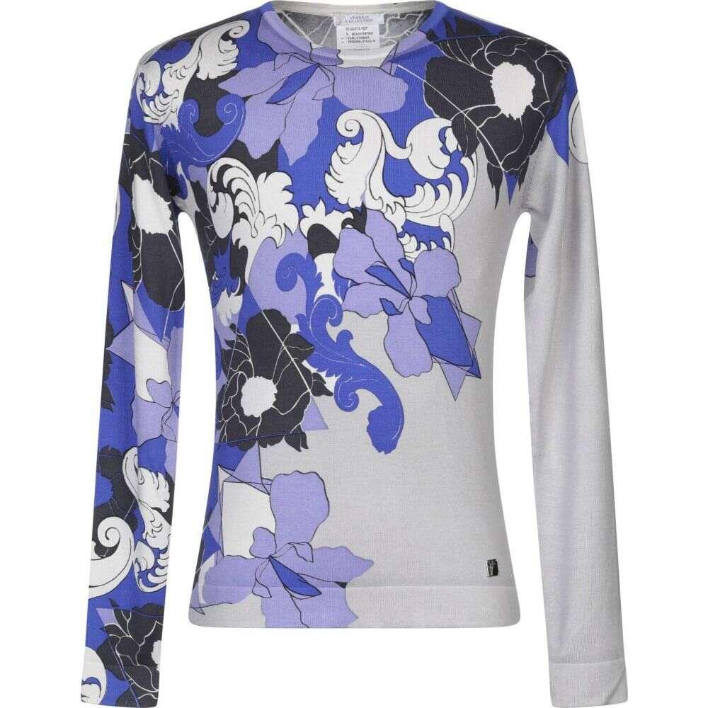 ヴェルサーチ VERSACE COLLECTION メンズ ニット・セーター トップス【sweater】Blue