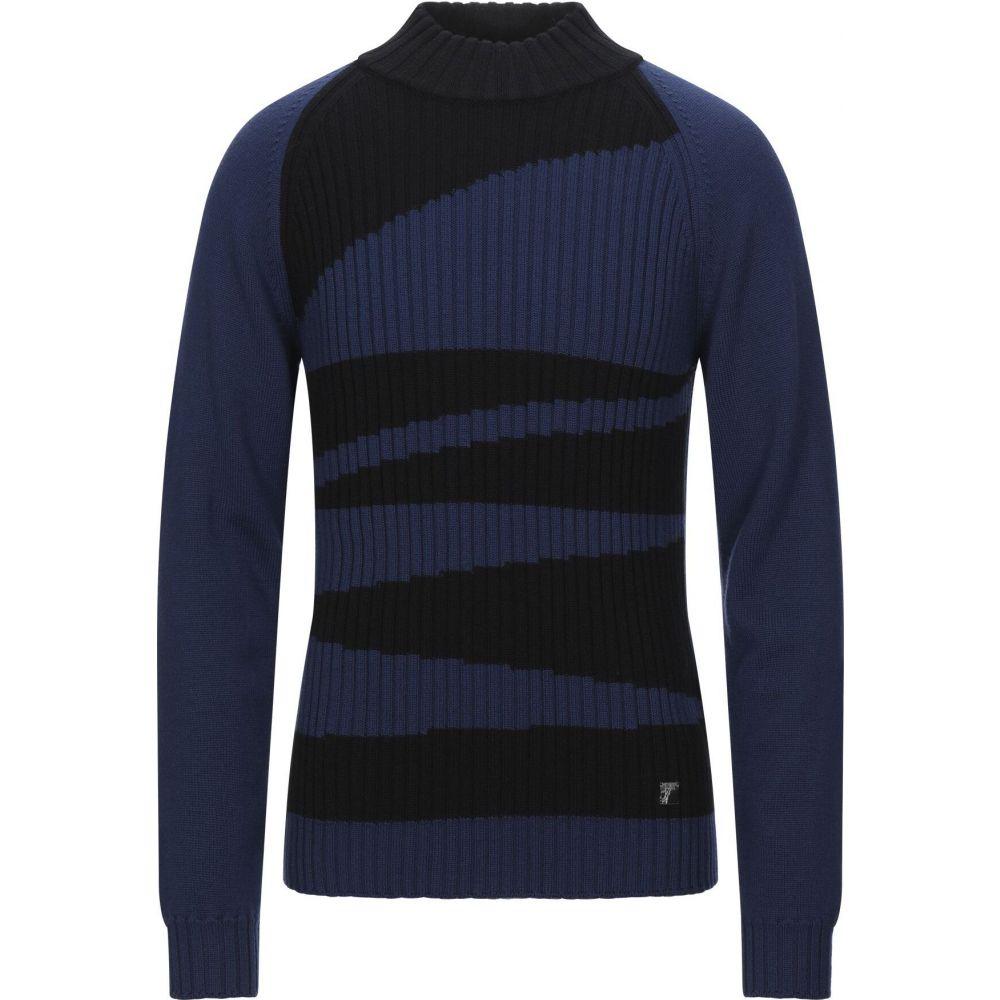 ヴェルサーチ VERSACE COLLECTION メンズ ニット・セーター トップス【turtleneck】Dark blue