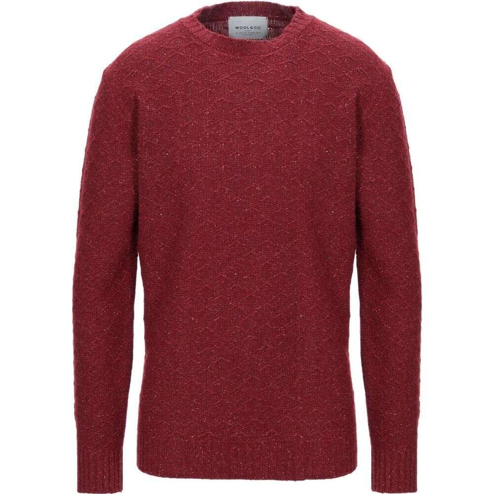ウールアンドコー WOOL & CO メンズ ニット・セーター トップス【sweater】Maroon