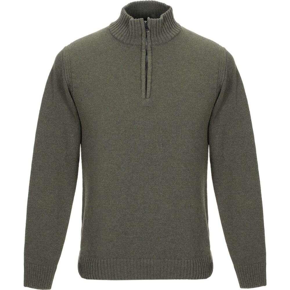 ブイネック VNECK メンズ ニット・セーター トップス【sweater with zip】Military green