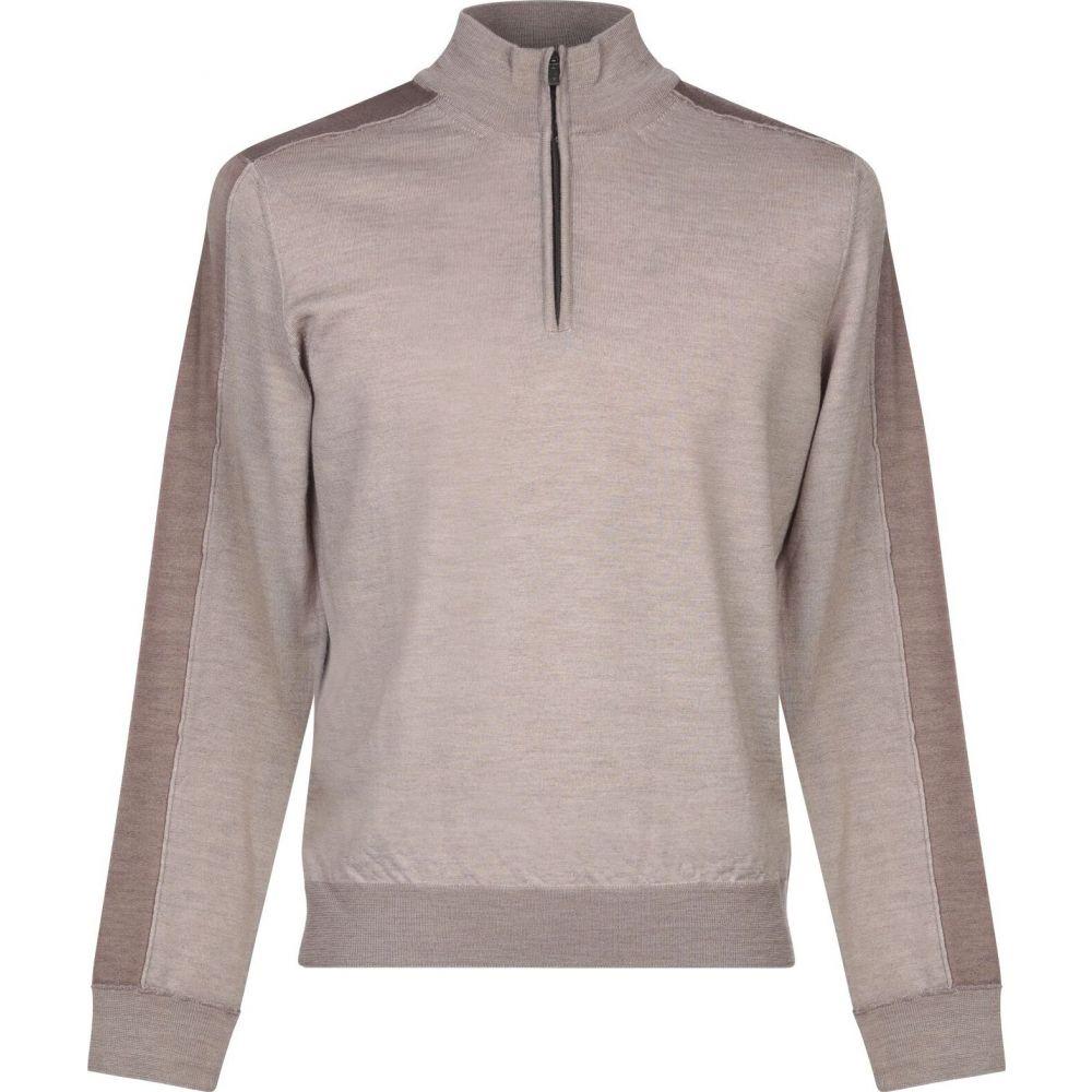 ブイネック VNECK メンズ ニット・セーター トップス【sweater with zip】Light brown