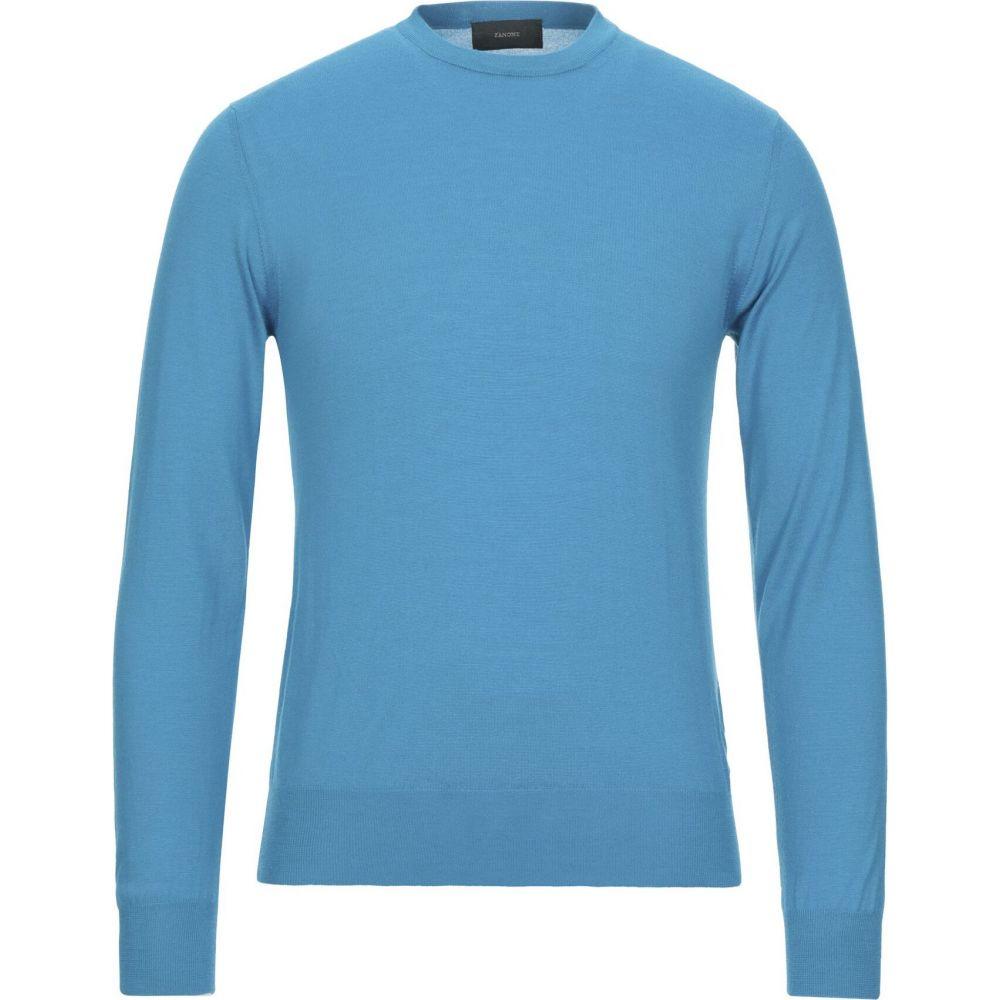 ザノーネ ZANONE メンズ ニット・セーター トップス【cashmere blend】Turquoise