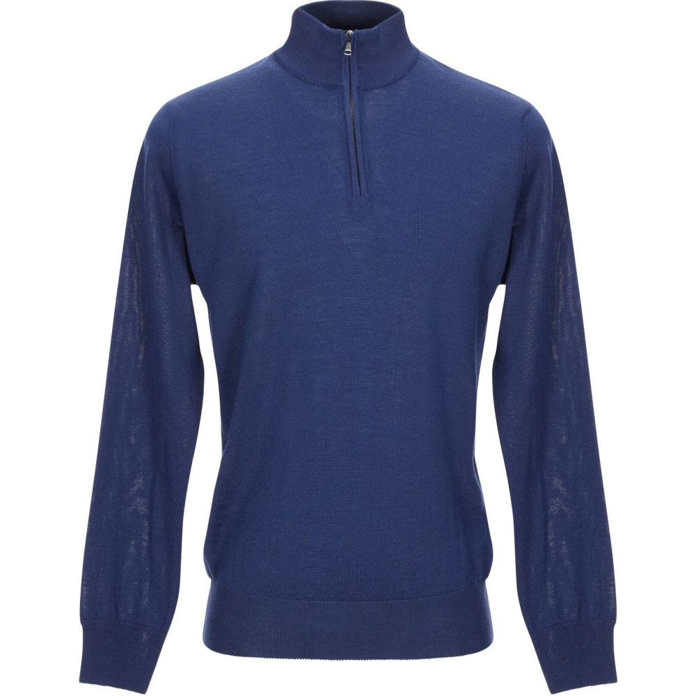 ブイネック VNECK メンズ ニット・セーター トップス【sweater with zip】Blue