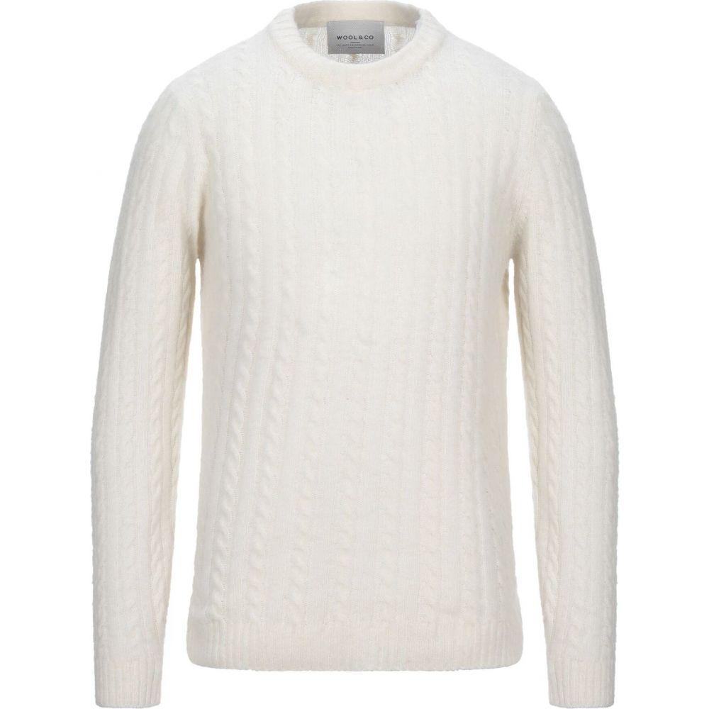 ウールアンドコー WOOL & CO メンズ ニット・セーター トップス【sweater】Ivory