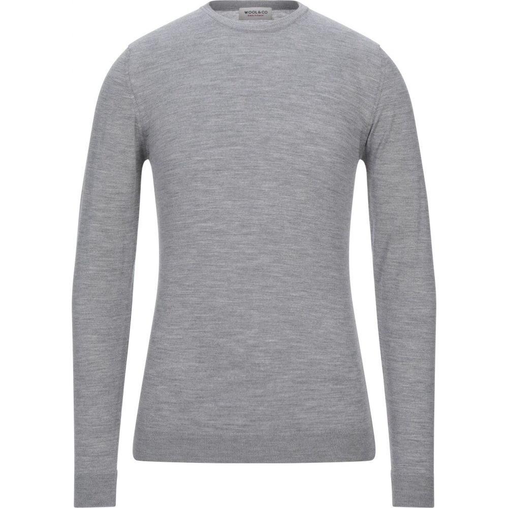 ウールアンドコー WOOL & CO メンズ ニット・セーター トップス【sweater】Light grey