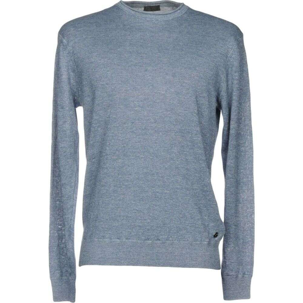 ZZEGNA メンズ ニット・セーター トップス【sweater】Pastel blue