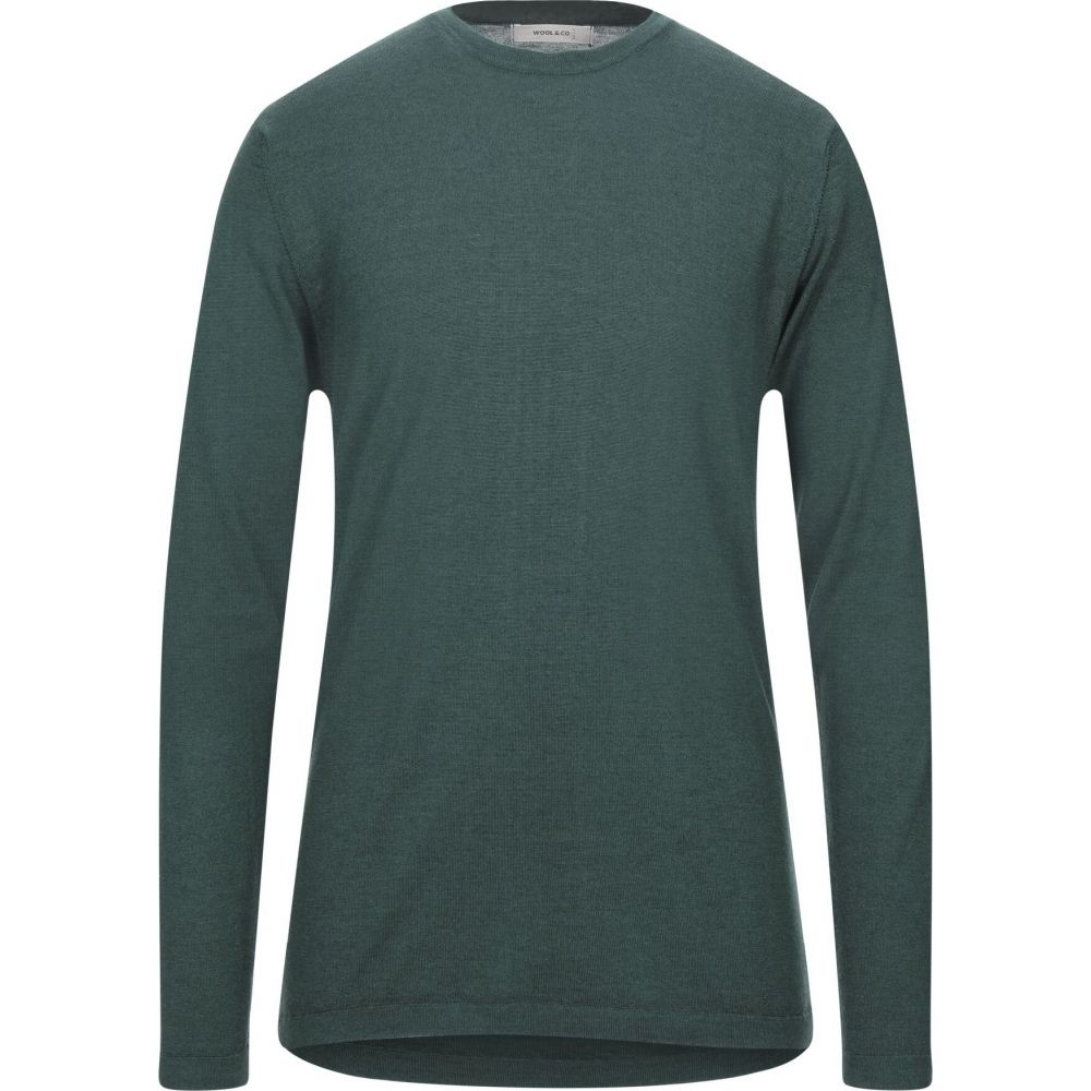 ウールアンドコー WOOL & CO メンズ ニット・セーター トップス【sweater】Dark green