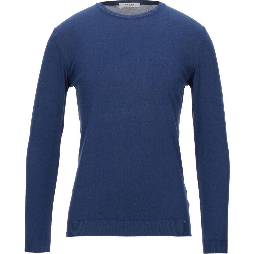 ウールアンドコー WOOL & CO メンズ ニット・セーター トップス【sweater】Dark blue