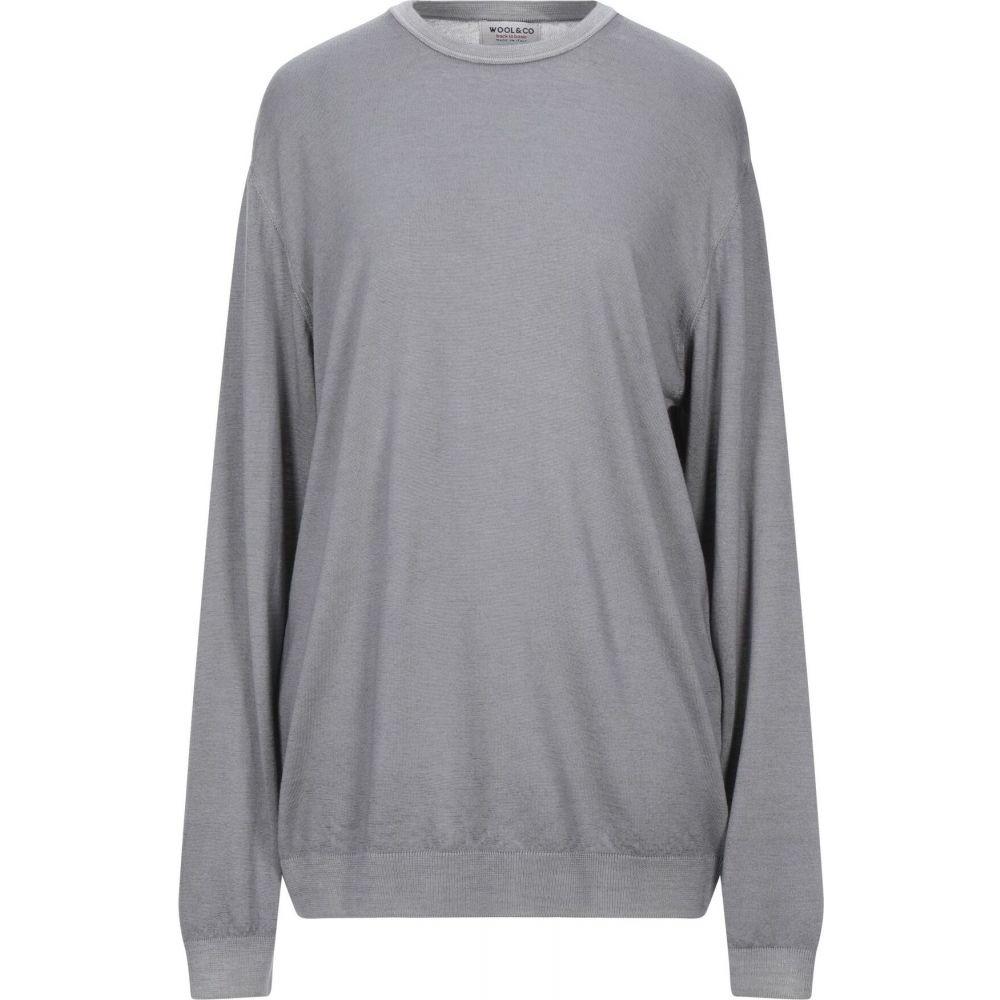 ウールアンドコー WOOL & CO メンズ ニット・セーター トップス【sweater】Grey