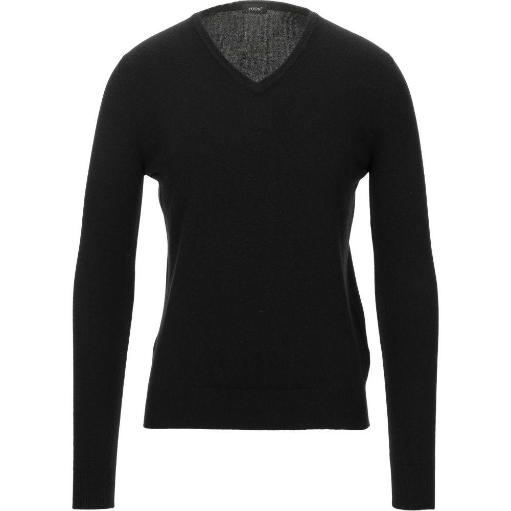 ヨーン YOON メンズ ニット・セーター トップス【cashmere blend】Black