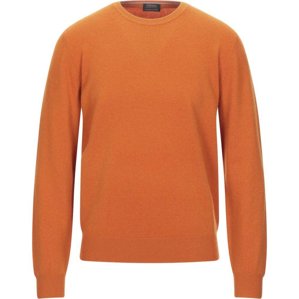 ZZEGNA メンズ ニット・セーター トップス【cashmere blend】Orange