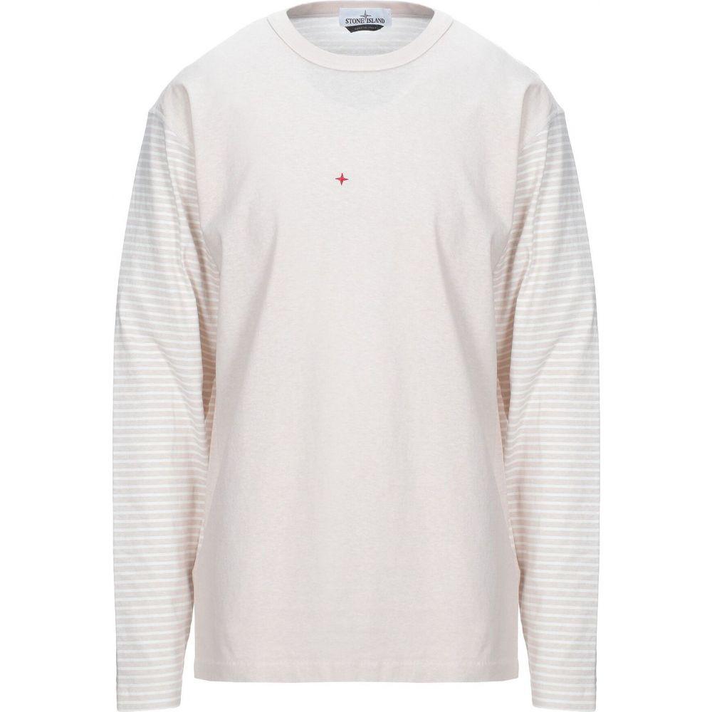 ストーンアイランド メンズ トップス Tシャツ Beige 【サイズ交換無料】 ストーンアイランド STONE ISLAND メンズ Tシャツ トップス【T-Shirt】Beige